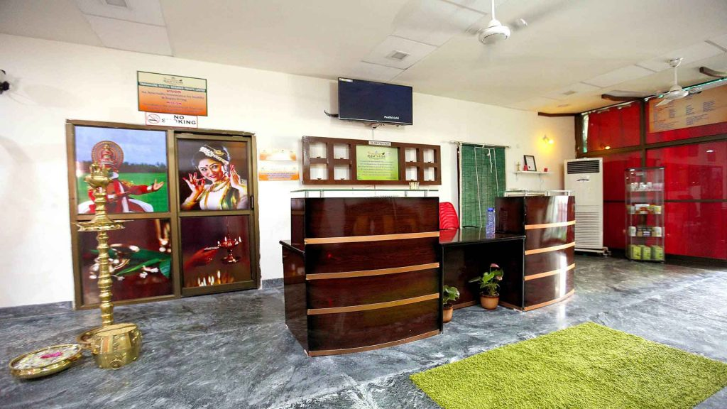 Travancore ayurveda reception counter