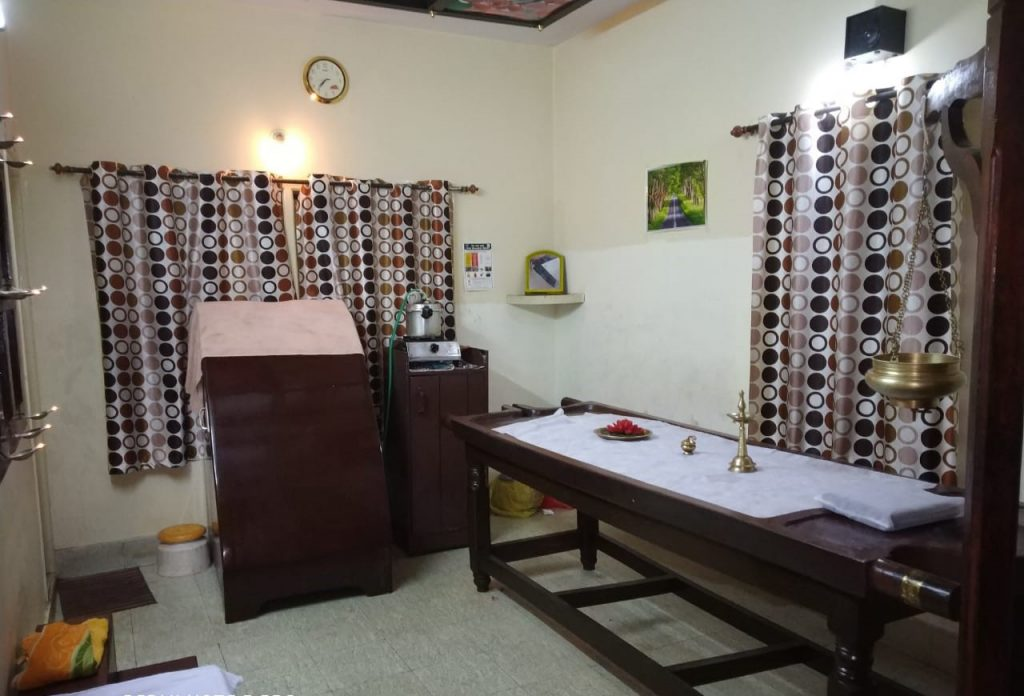 Travancore ayurveda banglore aurvedic treatment room