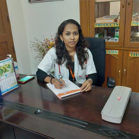 Ayurvedic doctor Mrs sreelakshmi